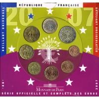 FRANCE 2007 - EURO COIN SET - BU