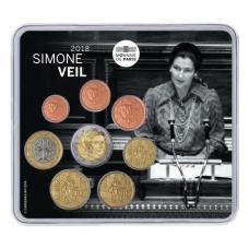 FRANCE EURO SET 2018 - SIMONE VEIL +2 EURO