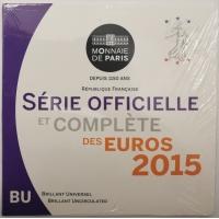 FRANCE 2015 - EURO COIN SET - BU