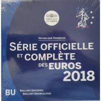 FRANCE 2018 - EURO COIN SET - BU