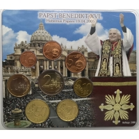 GERMANY 2005 - EURO COIN SET - PAPST BENEDIKT XVI