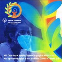GREECE 2011 - EURO COIN SET BU - ATHENS SPECIAL OLYMPICS 2011