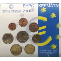 GREECE 2002 - EURO COIN SET BU - ERROR COIN