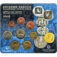 GREECE 2005 - EURO COIN SET BU