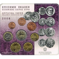 GREECE 2008 - EURO COIN SET BU