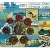 GREECE 2013 - EURO COIN SET BU - Mykonos - Delos