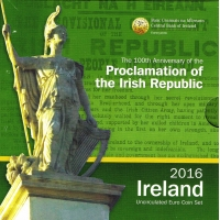 IRELAND 2016 - EURO COIN SET - Proclamation of the Irish Republic - 100 years since the 1916 Easter Rising in Ireland