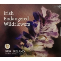 IRELAND 2020 - EURO COIN SET BU - ENDANGERED IRISH WILDFLOWERS