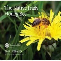 IRELAND 2021 - EURO COIN SET BU - The Native Irish honey bee