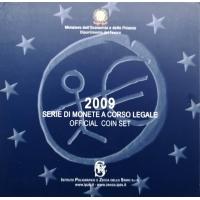 ITALY 2009 - EURO COIN SET  (BU)