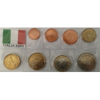 ITALY 2002 - EURO COIN SET - UNC