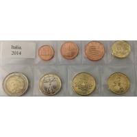 ITALY 2014 - EURO COIN SET - UNC