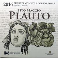ITALY 2016 - EURO COIN SET - PLAUTO  (BU)