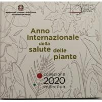 ITALY 2020 - EURO COIN SET + SILVER (BU)
