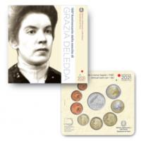 ITALY 2021 - EURO COIN SET + SILVER (BU) - Grazia Deledda