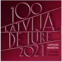 LATVIA 2021 - EURO COIN SET - LATVIA DE IURE 100