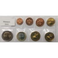 MONACO 2001 - UNC EURO COIN SET