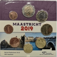 NETHERLANDS 2019 - EURO COIN SET UNC