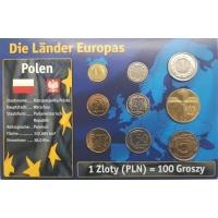 POLAND 2009 -2015 - EURO COIN SET MIX