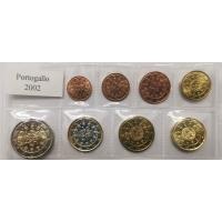 PORTUGAL 2002 - EURO COIN SET - UNC