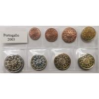 PORTUGAL 2003 - EURO COIN SET - UNC