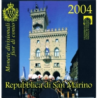SAN MARINO 2004 - EURO COIN SET + SILVER COIN