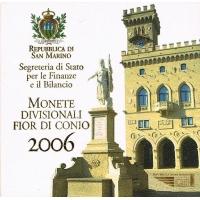 SAN MARINO 2006 - EURO COIN SET + SILVER COIN
