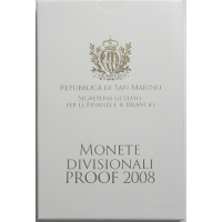 SAN MARINO 2008 - EURO COIN SET - PROOF