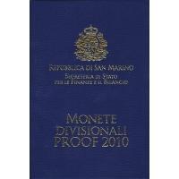 SAN MARINO 2010 - EURO COIN SET - PROOF