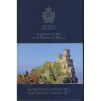 SAN MARINO 2017 - EURO COIN SET - PROOF