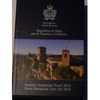 SAN MARINO 2018 - EURO COIN SET - PROOF
