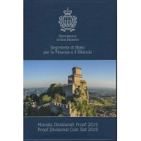 SAN MARINO 2019 - EURO COIN SET - PROOF
