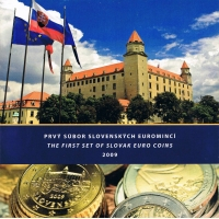 SLOVAKIA 2009 - EURO COIN SET BU
