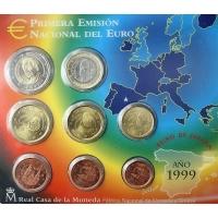 SPAIN 1999 - EURO COIN SET - BU