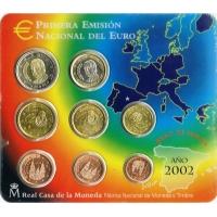 SPAIN 2002 - EURO COIN SET - BU