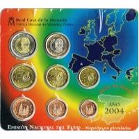 SPAIN 2004 - EURO COIN SET - BU
