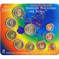 SPAIN 2005 - EURO COIN SET - BU