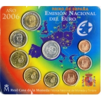 SPAIN 2006 - EURO COIN SET - CHRISTOPHER COLUMBUS