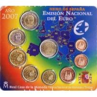 SPAIN 2007 - EURO COIN SET - BU