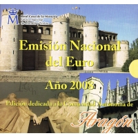 SPAIN 2008 - EURO COIN SET BU - ARAGON