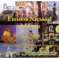 SPAIN 2008 - EURO COIN SET BU - ANDALUSIA
