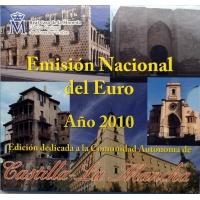 SPAIN 2010 - EURO COIN SET BU - CASTILLA LA MANCHA