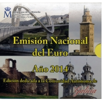 SPAIN 2014 - EURO COIN SET BU - GALICIA