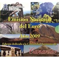 SPAIN 2009 - EURO COIN SET BU - CANARIAS
