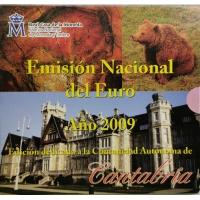 SPAIN 2009 - EURO COIN SET BU - CANTABRIA