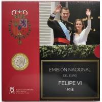 SPAIN 2015 - EURO COIN SET BU