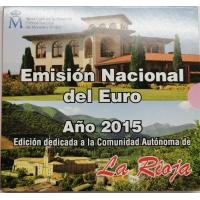 SPAIN 2015 - EURO COIN SET BU - La Rioja