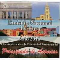 SPAIN 2016 - EURO COIN SET BU - Asturias