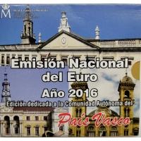 SPAIN 2016 - EURO COIN SET BU - Basque Country
