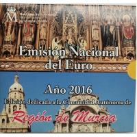 SPAIN 2016 - EURO COIN SET BU - Murcia